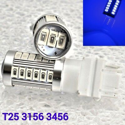 Reverse Backup Light T25 3156 3456 33 samsung LED Blue Bulb W1 For Ford A
