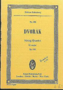 DVORAK ~ String Quartet As Dur Op. 105 - Studienpartitur