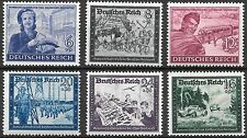 Germany Third Reich Mi# 888-893 MH Postal Employees & Hitler's Cuture Fund*