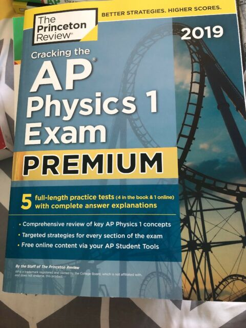 College Test Preparation: Cracking the AP Physics 1 Exam 2019, Premium  Edition by Princeton Review (2018, Paperback)