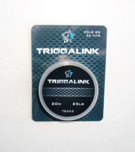 25 lbs Tragkraft 20m spektakuläres Material 20 Trigga Link Nash Triggalink