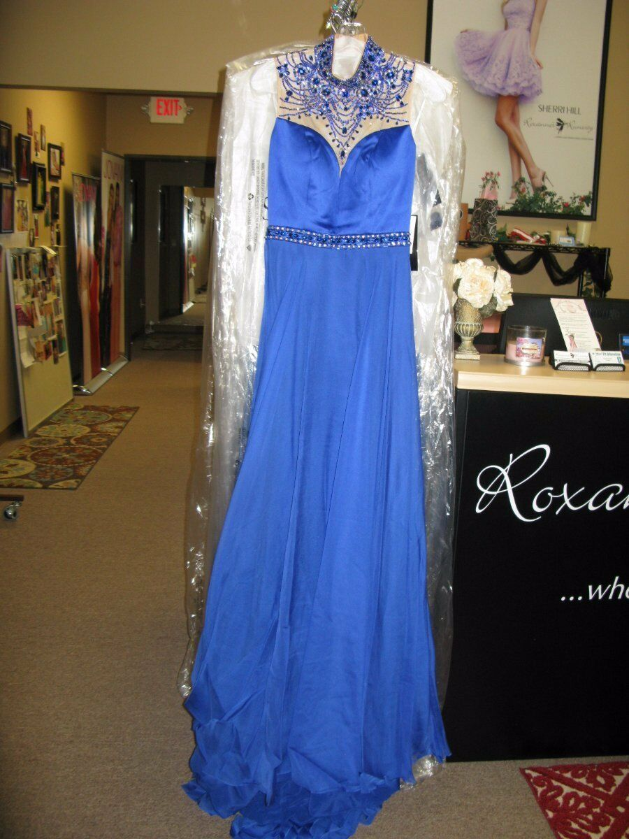 Sherri Hill 32144 Royal bluee Stunning Prom Pageant Gown Dress sz 10