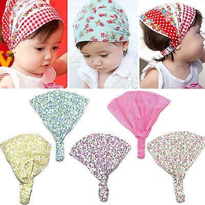 Girls Kids Baby Cute Bow Elastic Cotton Yoga Sprout Hair Head Band bandana 0-12m