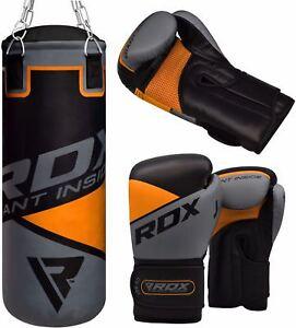 RDX Junior Sandsack MMA Kickboxen Gefüllt Boxsack Boxhandschuhe Ketten AT