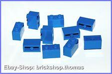 Lego 10 x Basicsteine Bausteine blau - 3004 - Brick 1 x 2 blue - NEU / NEW