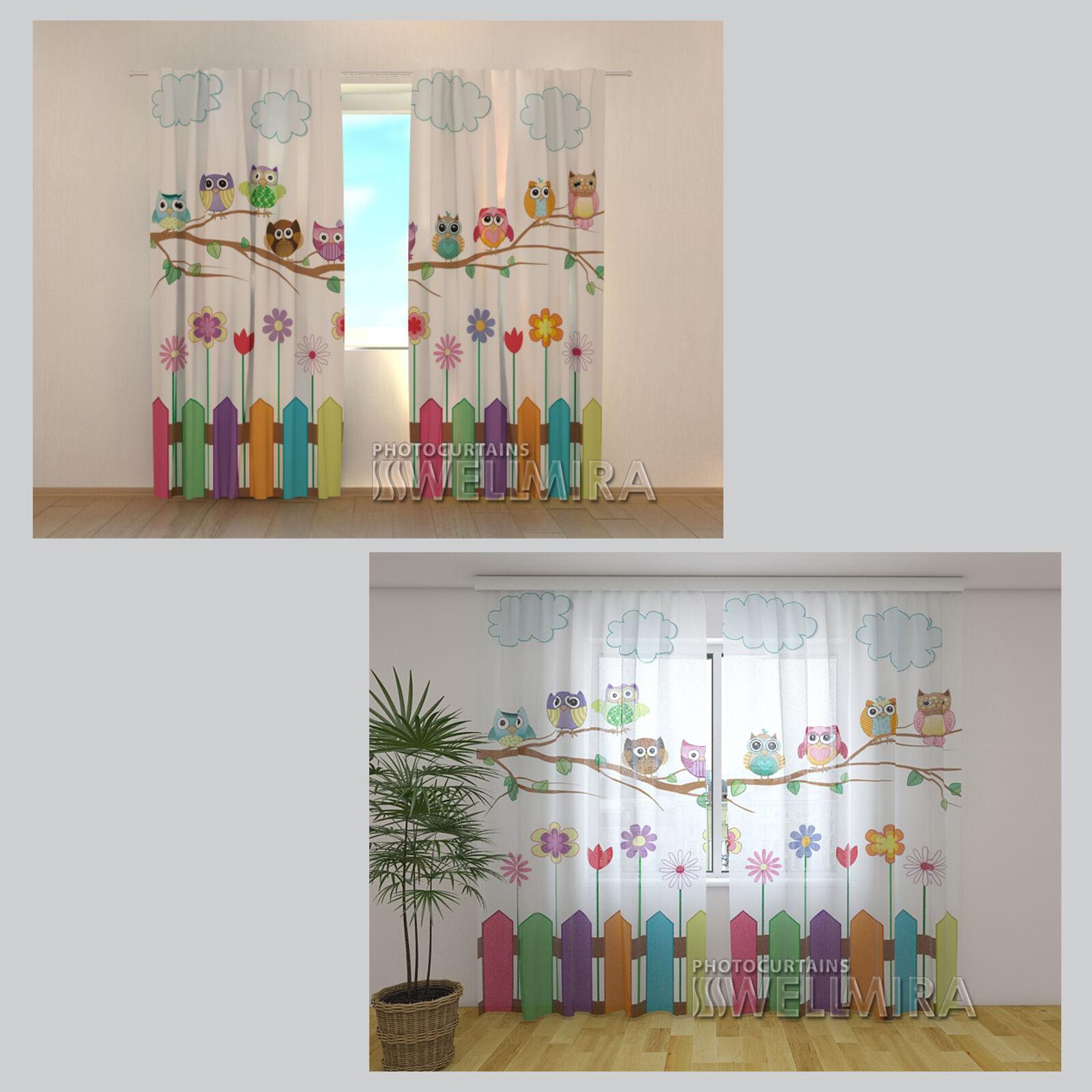 spring schmetterling kinder schlaufenband gardine vorhang fertigvorhang albani ebay. Black Bedroom Furniture Sets. Home Design Ideas