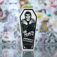 Horror Punk Skull in Coffin Misfits Rock Music Transparent Skateboard StickerT13