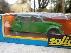 SOLIDO-France-N-56-CITROEN-2CV-6-verte-etat-Neuf-en-boite-d-039-origine