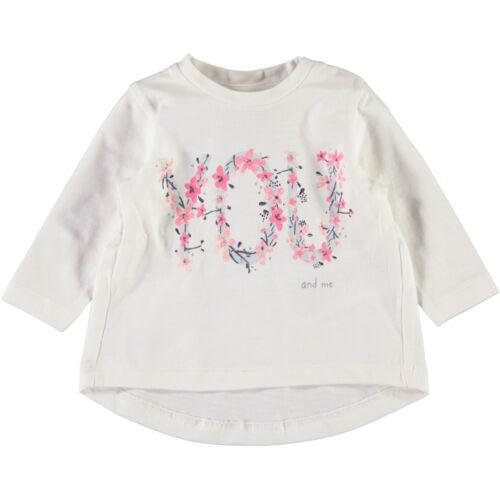 NAME IT Mädchen Baby Langarmshirt Shirt langarm leicht austgestellter Rücken NEU
