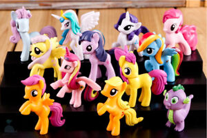 70MM-Large-12pcs-My-Little-Pony-Mini-Dolls-PVC-Character-Figures-Miniature-Set