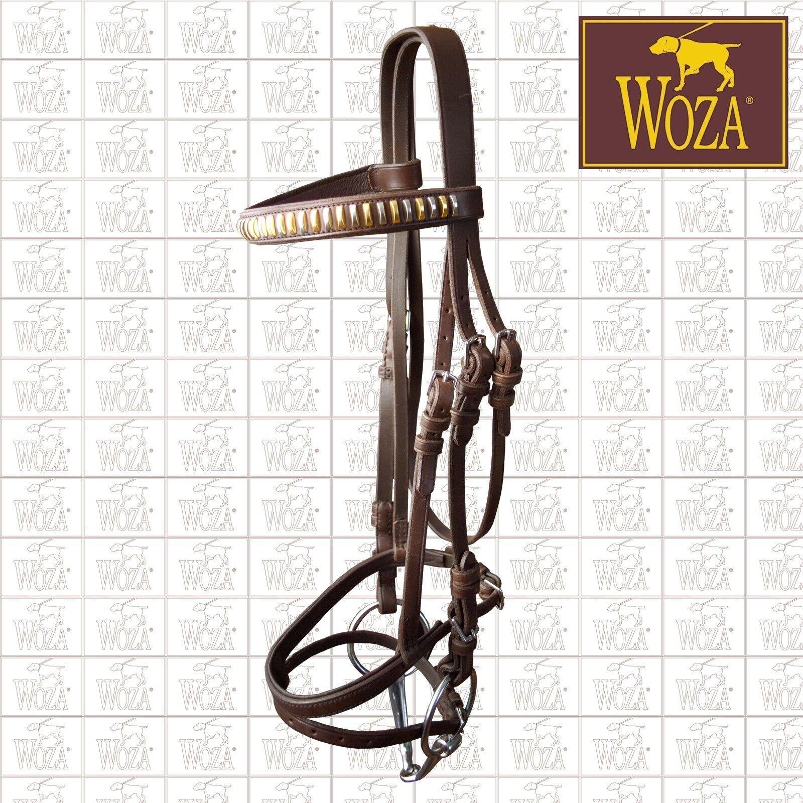 Premium Reittrense Handgenäht Vollrindleder WOZA Handmade Halfter Zügel TR51360