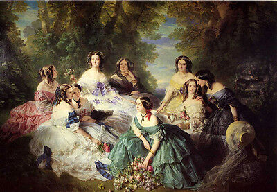 """Oil painting Empress of Napoleon III &  odalisque young nice girls 36""""x48"""" inch"""
