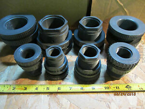 AQUARIUM BULKHEADS HEAVY-DUTY Grey Schedule 80 Tank Adapters