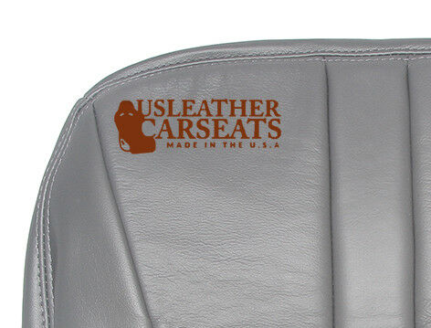1999 99 Ford Expedition Eddie Bauer Passenger Bottom Leather Seat Cover Gray