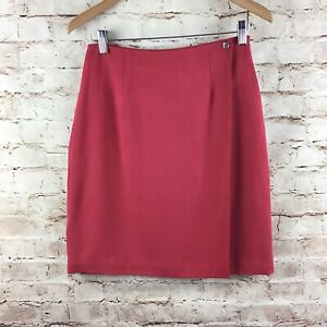 Tommy-Bahama-Pink-100-Silk-Wrap-Straight-Skirt-Size-6