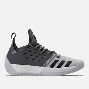 MENS ADIDAS HARDEN VOL.2 SILVER/BLACK BASKETBALL SHOES MEN'S SELECT YOUR SIZE