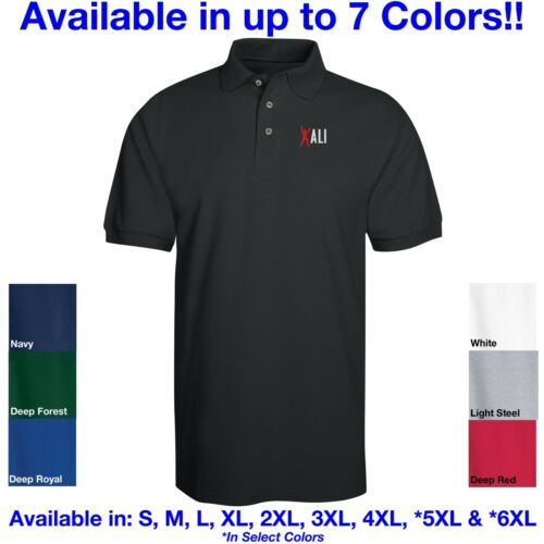 RIP Tribute Embroidered Polo in 7 Colors ALL Sizes Cassius Clay Muhammad Ali