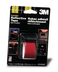 1-Inch by 36-Inch 3M Scotchlite Reflective Tape Red