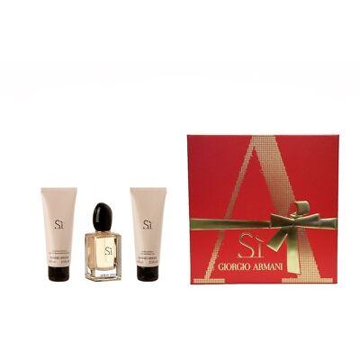 Giorgio Armani Si  EDP 50 ml Eau de Parfum Spray + BL 75 ml + DG 75 ml NEU SET