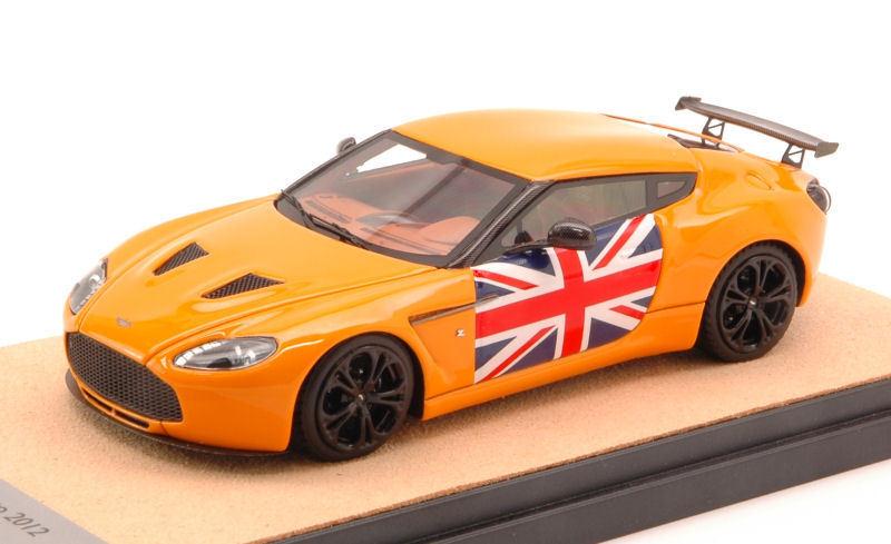 Aston Martin V12 Zagato 2012 Gloss arancia w  English Flag Limited 10 pcs 1 43