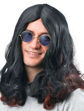 ROCK Star Nero sabbith OZZY OSBOURNE Hippy Hippie Parrucca FANCY DRESS ACCESSORIO