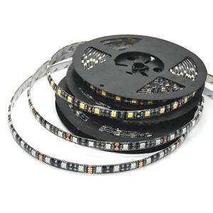 5050-LED-Strip-Black-PCB-DC12V-Flexible-LED-Light-60LED-m-RGB-White-WW-Red-Green