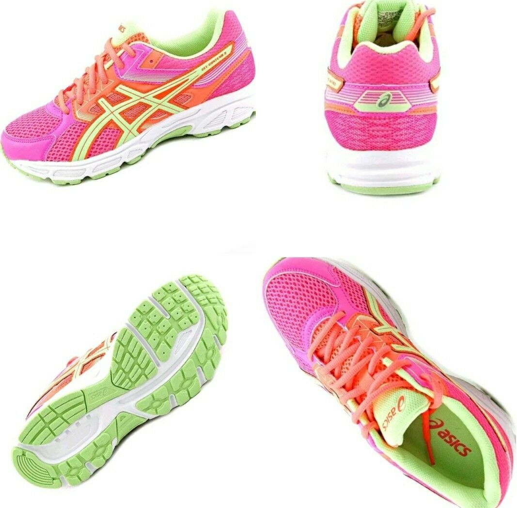 Asics Gel Contend 3 PS Youth Round Toe Synthetic Pink Running Shoe size 7