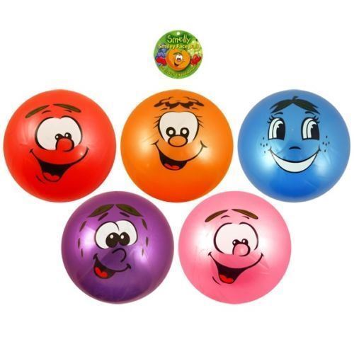 Fruttato Puzzolente profumata Play Ball colore FACE BOY GIRL Fun Party Borsa Giocattolo Nuoto