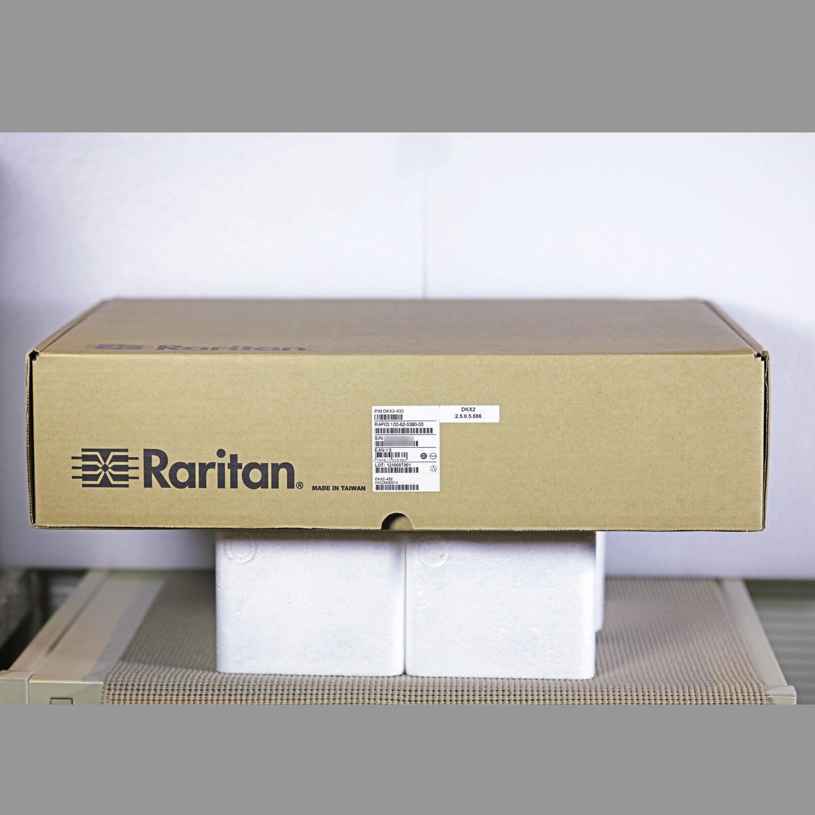 Raritan KX2-432 DKX2-432 32-port KVM USB PS//2 2x1Gb LAN Dual AC w// Brackets
