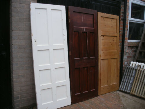 Unrestored 6 available Reclaimed 1930s assorted panel doors