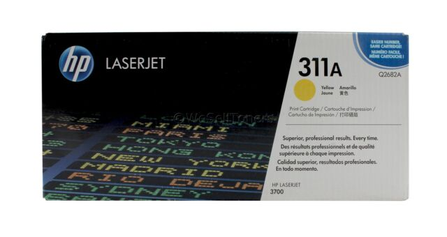HP Q2682A Yellow Toner Cartridge 311A Genuine New Sealed Box