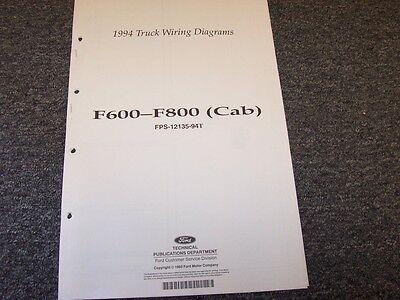 1994 Ford F600 F700 F800 Cab Truck Electrical Wiring ...
