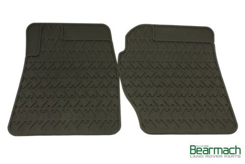 Range Rover Classic Front Pair of Moulded Rubber Footwell Mats Bearmach