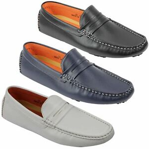 New-Mens-Faux-Leather-Slip-on-Penny-Loafers-Driving-Shoes-UK-Sizes-6-7-8-9-10-11