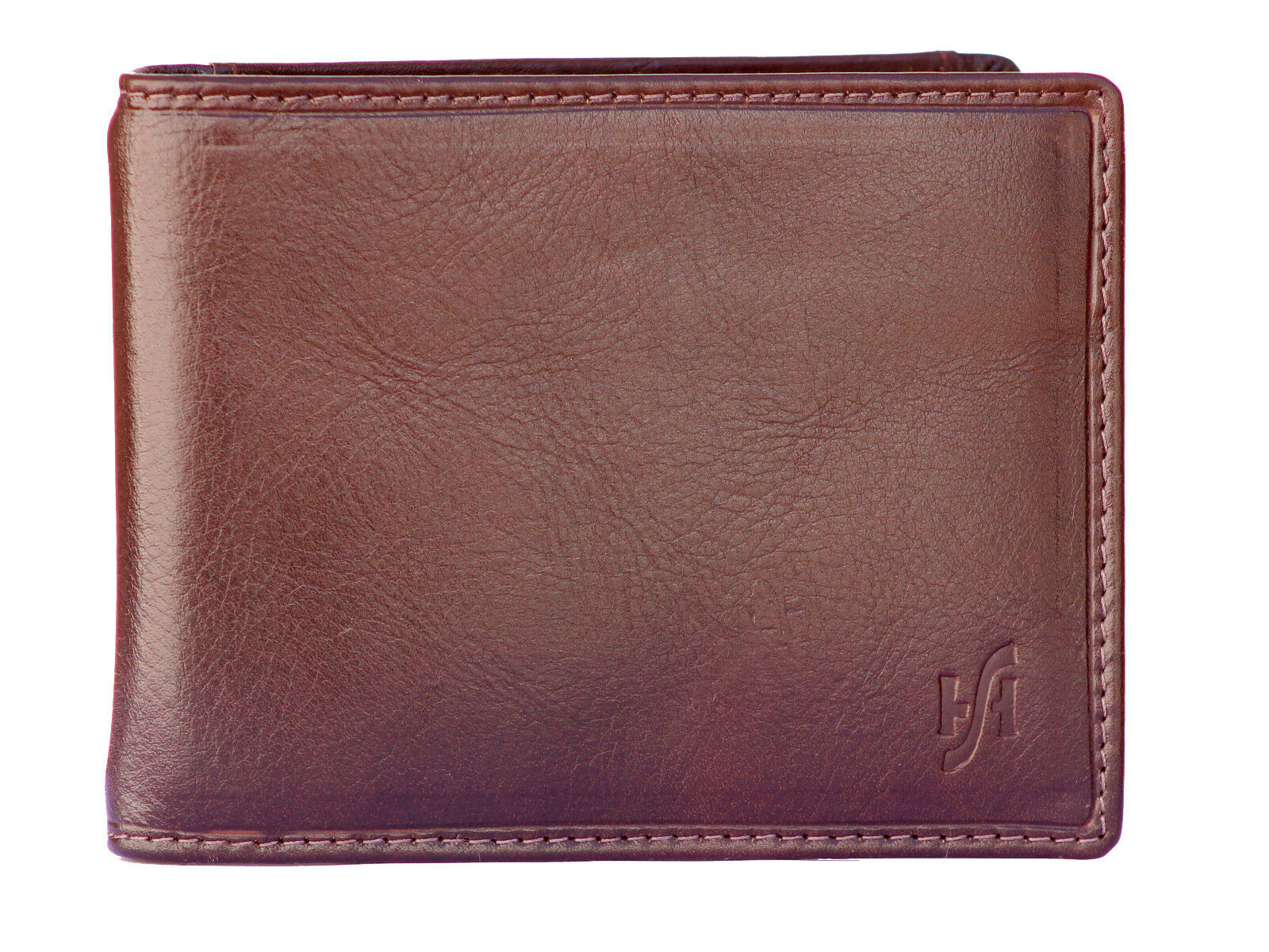 Mens RFID Bifold Money Clip Card Wallet Brown