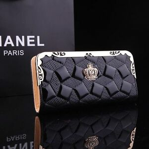 100-New-Fashion-Women-Patent-Leather-Clutch-Wallet-Long-PU-Card-Purse-Handbag