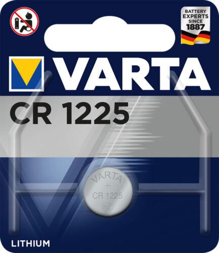 1x Varta CR1225 48mAh Batterien Knopfzellen Knopfzelle Uhren MHD 09-2028
