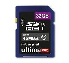 INTEGRAL 32GB ULTIMA PRO SDHC 45MB/S CLASS 10 MEMORY CARD FAST SPEED SD CARD