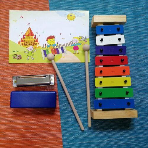 HöLzernes 8 Tasten Xylophon für Kinder PräZise Gestimmte Bunte Glocken Spie F7N9