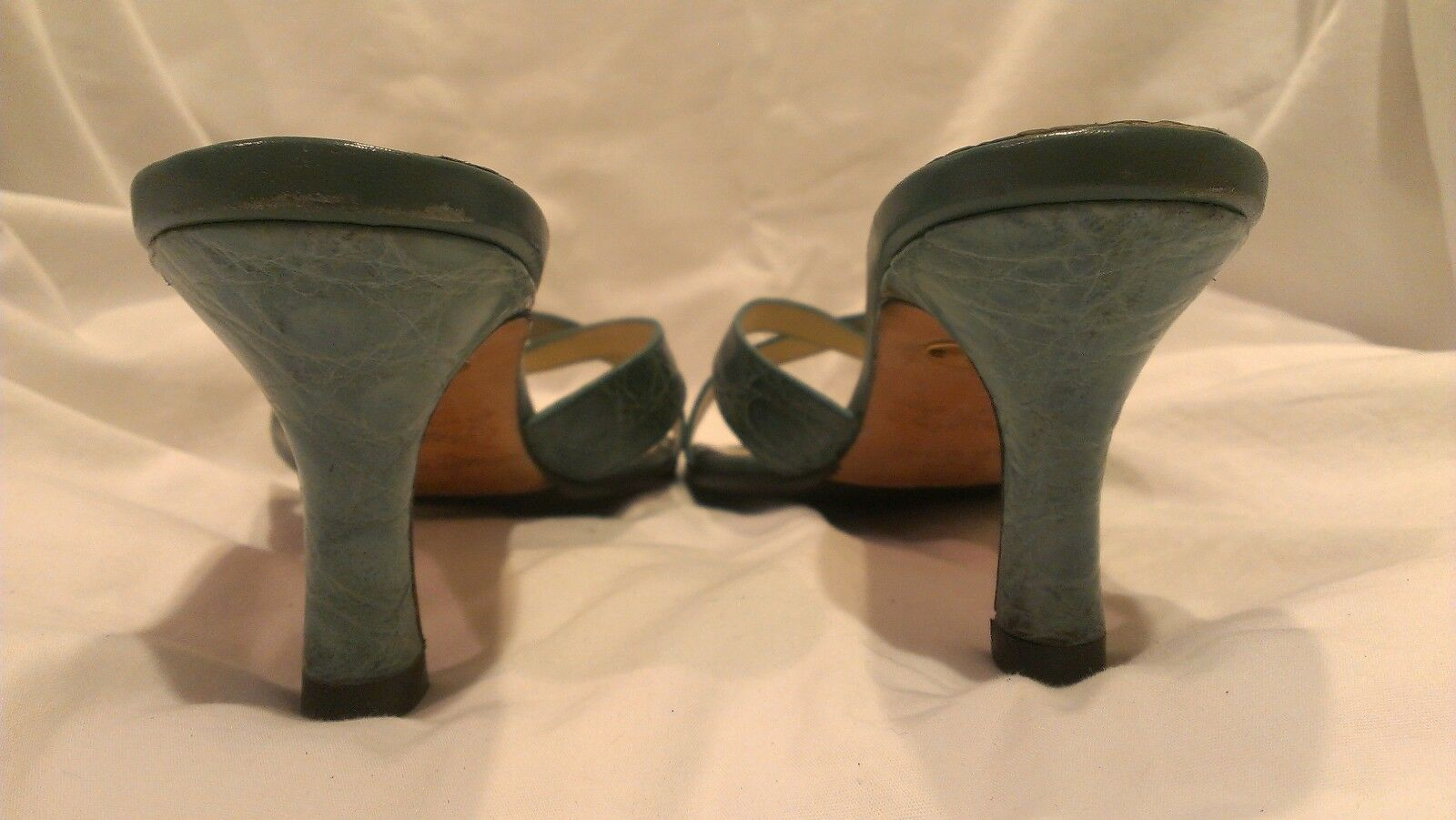 Giorgio's of Palm Beach Schuhes Turquoise Alligator Strappy Heels Schuhes Beach Größe 8 M e8d953