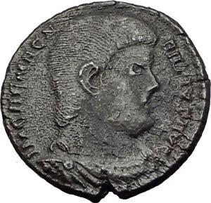 MAGNENTIUS w Chi-Rho 350AD Trier RARE Authentic Ancient Roman Coin i65286