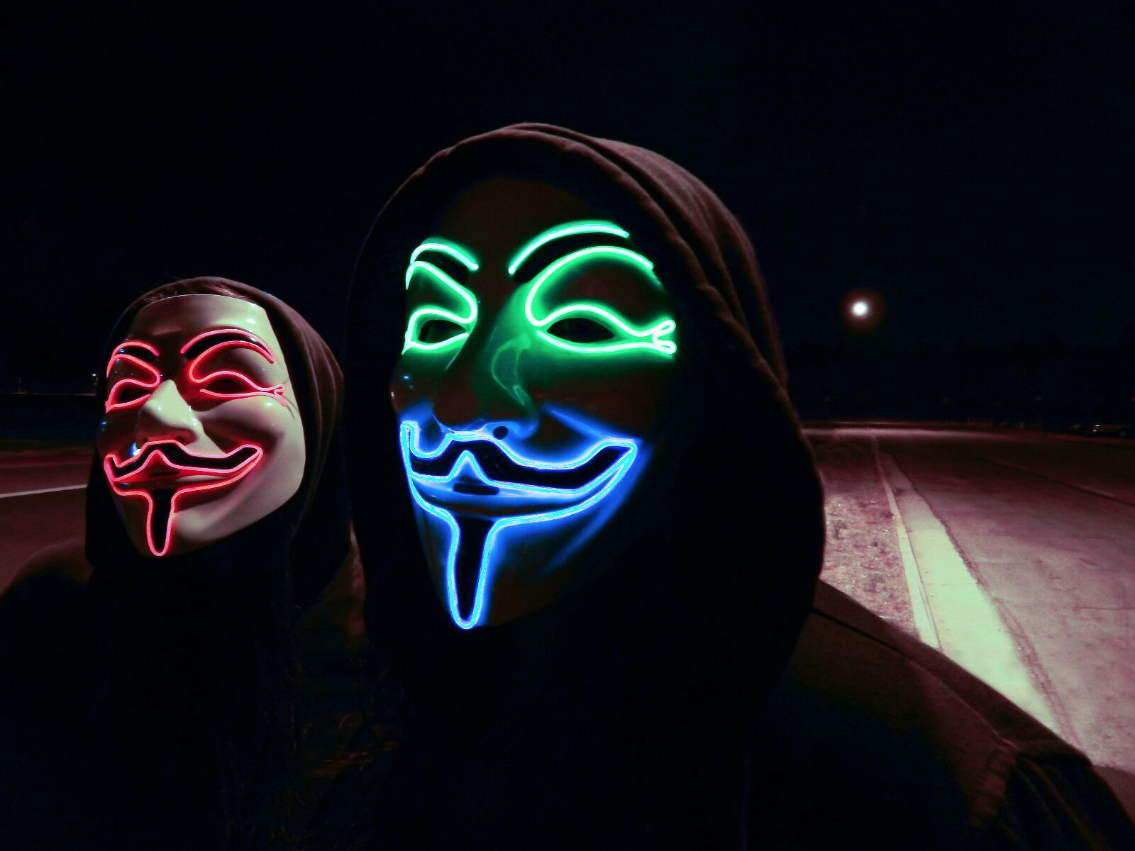 LED V For Vendetta Movie Costume Mask Guy Fawkes Anonymous ...