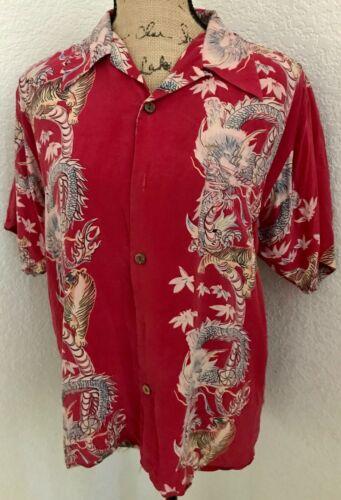 Avanti Silk Hawaiian Original Vintage Men's Silk S