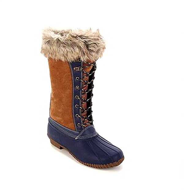 Sporto® Natasha; Waterproof Suede and Leather Duck Boot, Chestnut 5.5M