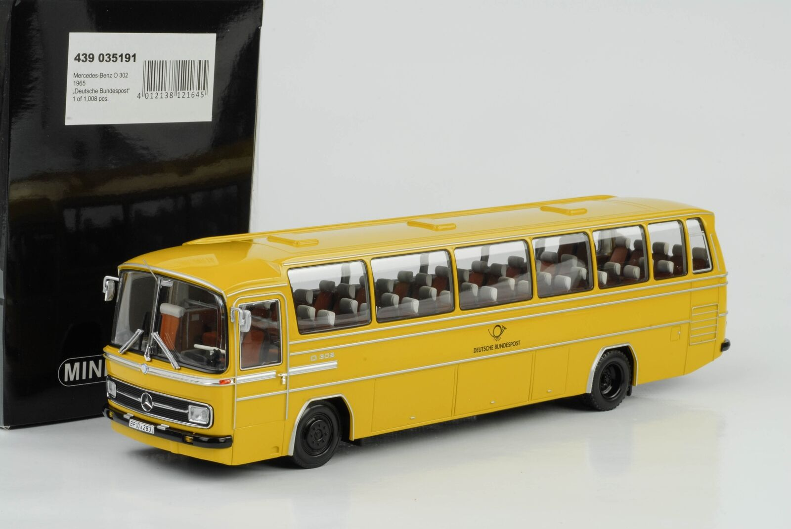 1965 MERCEDES-BENZ O 302 BUS Deutsche Bundespost 1 43 Minichamps