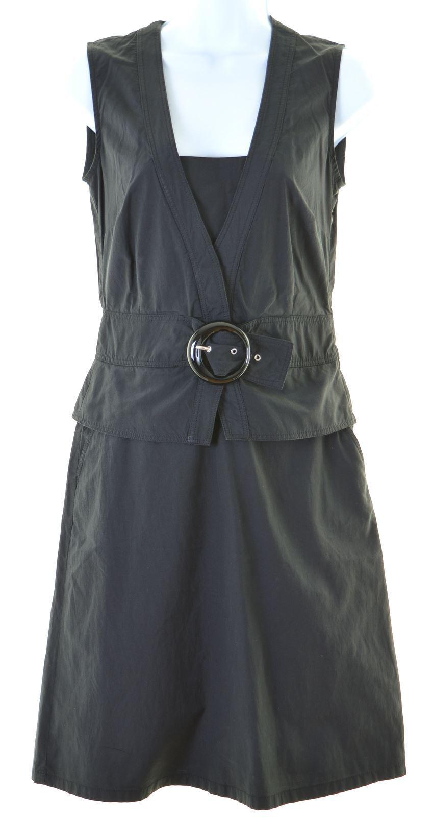 MOSCHINO damen Basic Dress UK 10 Small schwarz Polyester  EL03