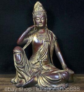 Statue-de-Boddhisattva-Kwan-Yin-Guan-Yin-siege-en-bronze-rouge-chinois-de-13-6-034