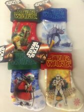 "Star Wars Mini Stocking Lot Boba Fett AT-AT Storm Trooper Yoda Santa 7"" NEW"