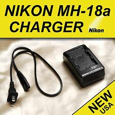 New Nikon MH18a Charger for Genuine EN-EL3 EN-EL3a & EN-EL3e Battery + FREE SHIP