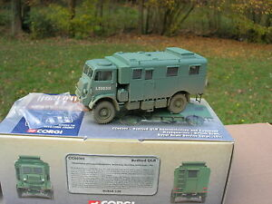 CORGI-1-50-MILITAIRE-CAMION-BEDFORD-QLR-4X4-034-HEADQUARTERS-034-ROYAL-ARMY-1944-60302